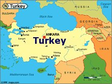 political map of turkey and surrounding countries