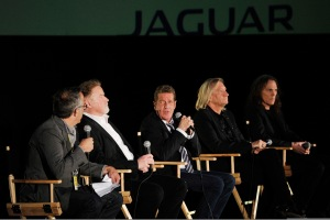 LONDON, ENGLAND - APRIL 25: Director of the Sundance Film Festival John Cooper, Musicians Don Henley, Glenn Frey, Joe Walsh and Timothy B. Schmit of The Eagles speak at the