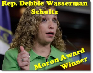 debbie-wasserman-schultz-moron-award-winner