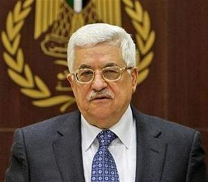 Palestinian President Mahmoud Abbas attends a meeting of the PLO executive committee at his compound in the West Bank city of Ramallah, Wednesday, Feb. 18, 2009. (AP Photo/Muhammed Muheisen)