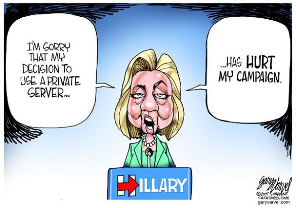 """Hillary Clinton admits that having a private server was """"clearly wasn't the best choice."""" Would she feel that way if the FBI wasn't investigating her server and her campaign wasn't distracted by the negative publicity?"""