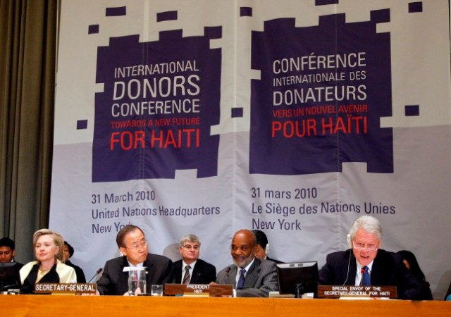 """Opening session of the International Donors' Conference towards a """"New Future for Haiti""""."""