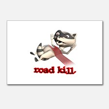 funny_road_kill_racoon_postcards_package_of_8
