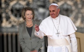 Image result for pope francis and nancy pelosi